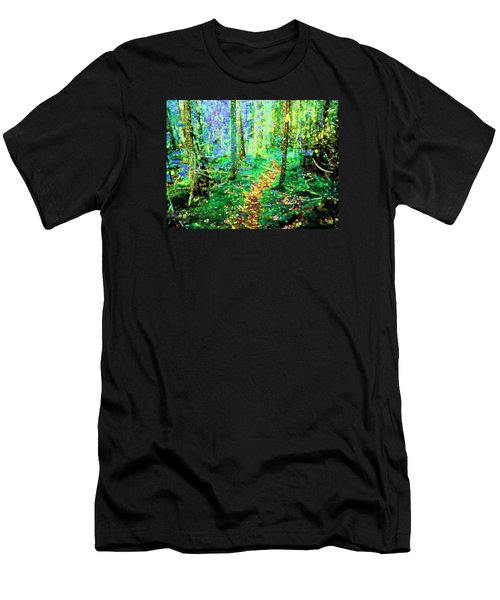 Wooded Trail Men's T-Shirt (Athletic Fit)