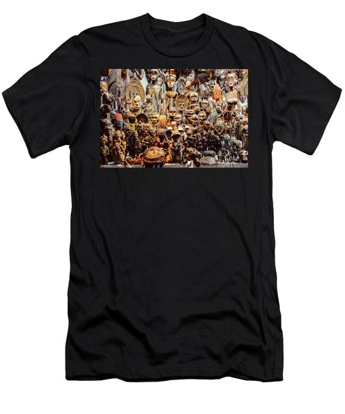 Wooden African Carvings Men's T-Shirt (Athletic Fit)