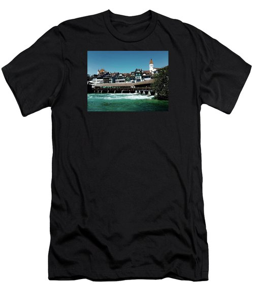 Men's T-Shirt (Slim Fit) featuring the photograph Wooden Bridge by Mimulux patricia no No