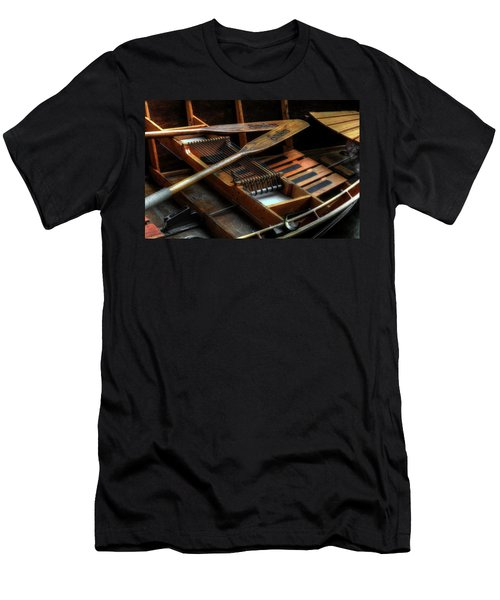 Wooden Rowboat And Oars Men's T-Shirt (Athletic Fit)