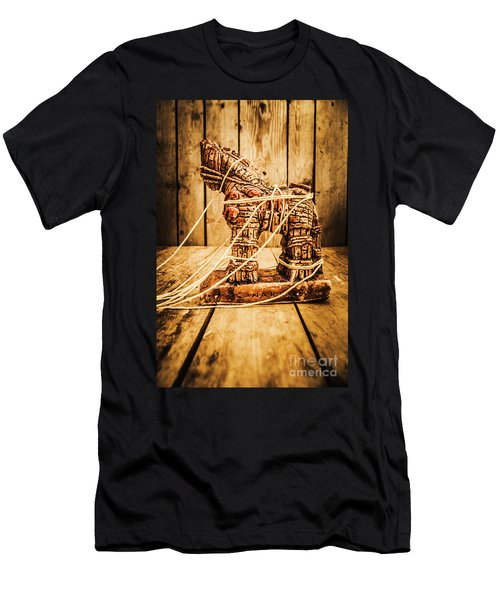 Wooden Trojan Horse Men's T-Shirt (Athletic Fit)