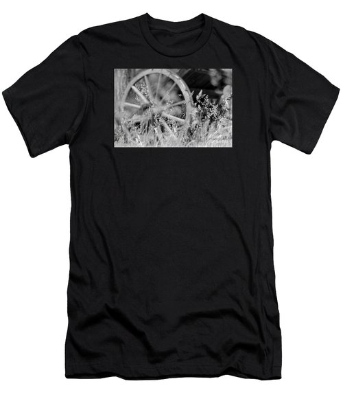 Men's T-Shirt (Athletic Fit) featuring the photograph Wooden Wagon Wheel by Beauty For God