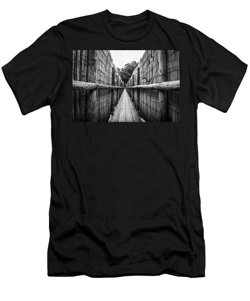 Wooden Walkway. Men's T-Shirt (Athletic Fit)