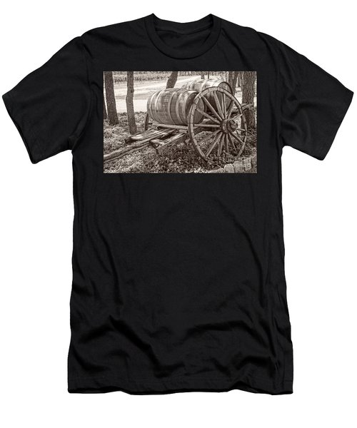 Wooden Wine Barrels On Cart Men's T-Shirt (Athletic Fit)