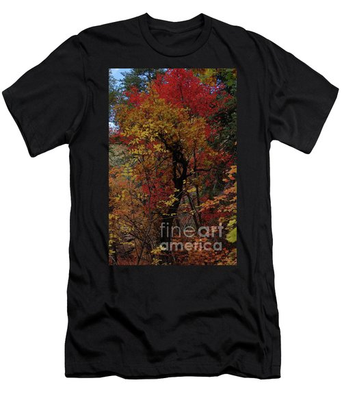 Men's T-Shirt (Athletic Fit) featuring the photograph Woods In Oak Creek Canyon, Arizona by Frank Stallone