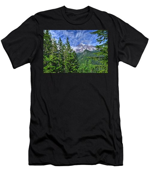 Woods Surrounding Mt. Rainier Men's T-Shirt (Athletic Fit)