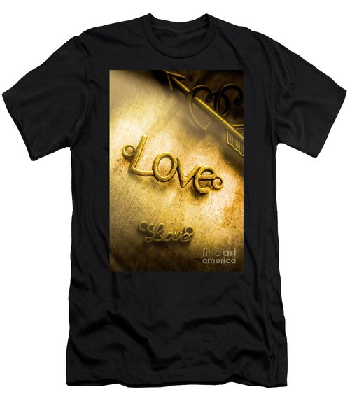 Words And Letters Of Love Men's T-Shirt (Athletic Fit)