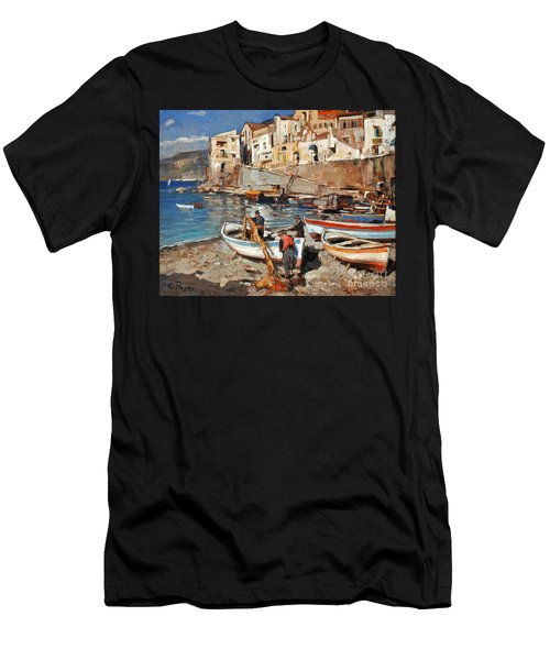 Work Never Ends For Amalfi Fishermen Men's T-Shirt (Athletic Fit)