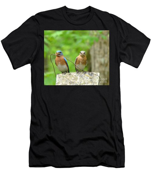 Working Couple Men's T-Shirt (Athletic Fit)