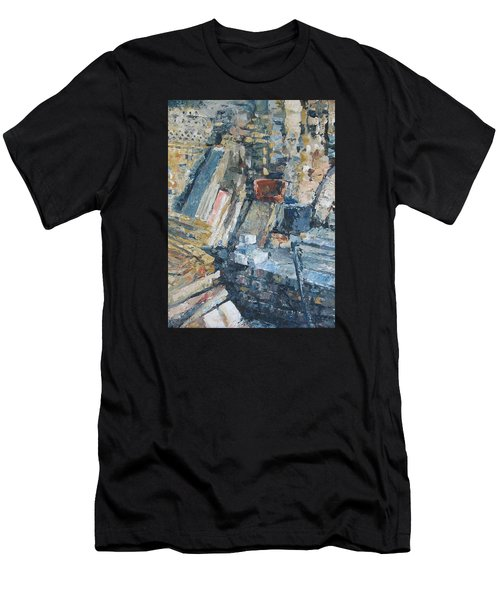 Working To Abstraction Men's T-Shirt (Slim Fit) by Connie Schaertl