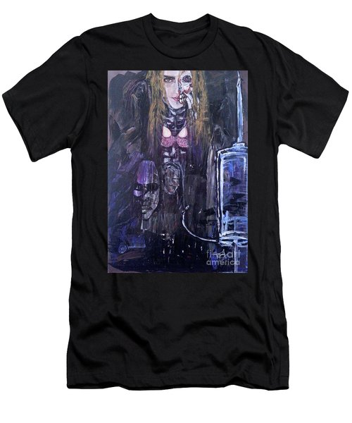 Men's T-Shirt (Athletic Fit) featuring the painting World Of Hurt by Reed Novotny