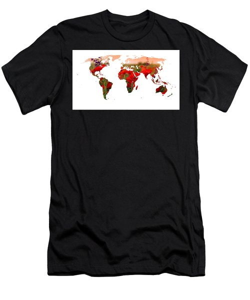 World Of Poppies Men's T-Shirt (Athletic Fit)