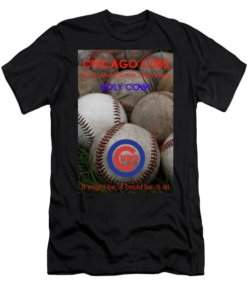 World Series Champions - Chicago Cubs Men's T-Shirt (Slim Fit) by David Patterson