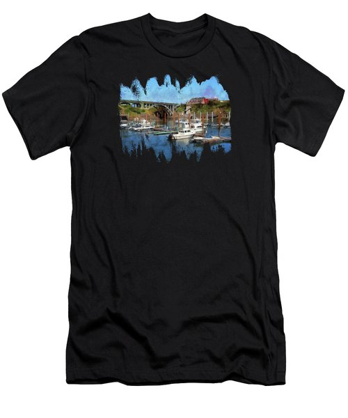 Worlds Smallest Harbor Men's T-Shirt (Athletic Fit)