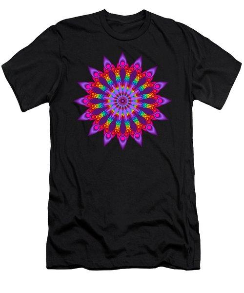 Woven Rainbow Fractal Flower Men's T-Shirt (Athletic Fit)
