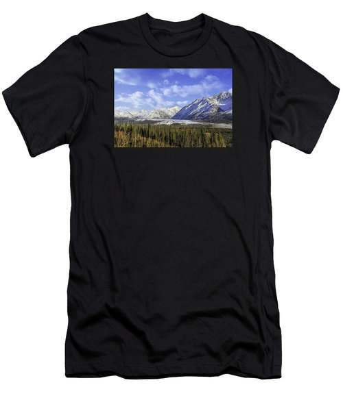 Wrangell Mountains Glacier Alaska Men's T-Shirt (Athletic Fit)