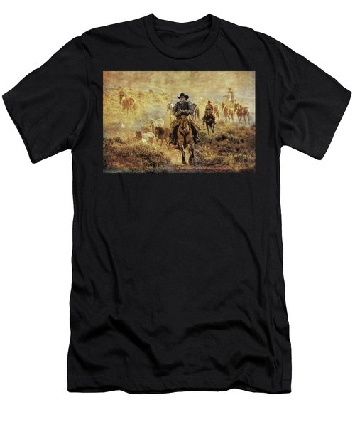 A Dusty Wyoming Wrangle Men's T-Shirt (Athletic Fit)