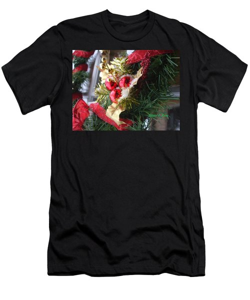 Men's T-Shirt (Slim Fit) featuring the photograph Wreath by Shana Rowe Jackson