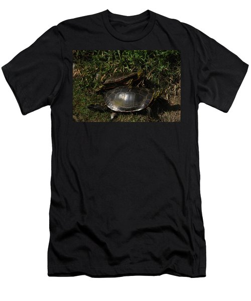 Wrestle Mania Painted Turtle Stlye Men's T-Shirt (Athletic Fit)
