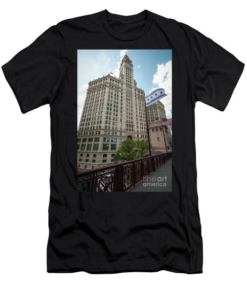 Wrigley Building Men's T-Shirt (Athletic Fit)