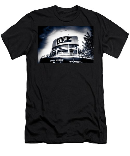 Wrigley Field Bleachers In Black And White Men's T-Shirt (Athletic Fit)