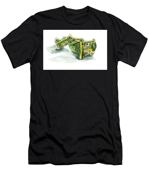 Wrinkled Dollar Men's T-Shirt (Athletic Fit)