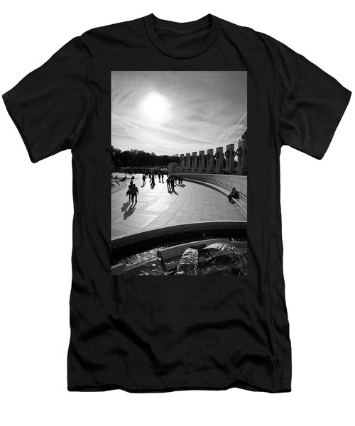Men's T-Shirt (Athletic Fit) featuring the photograph Wwii Memorial by David Sutton