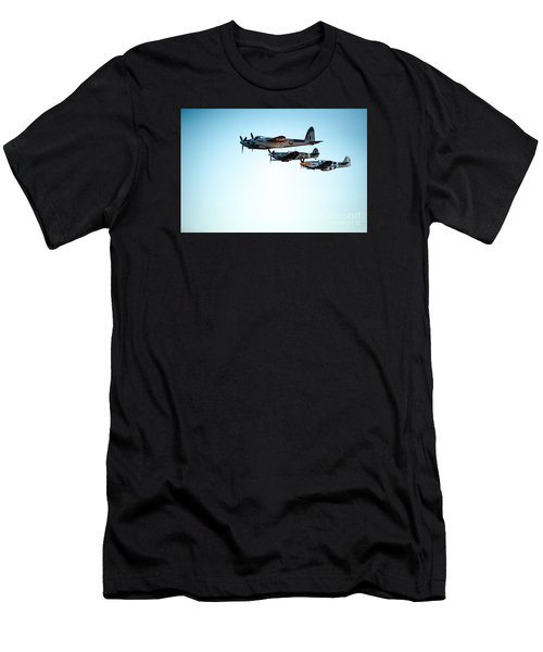 Wwii Planes Men's T-Shirt (Athletic Fit)