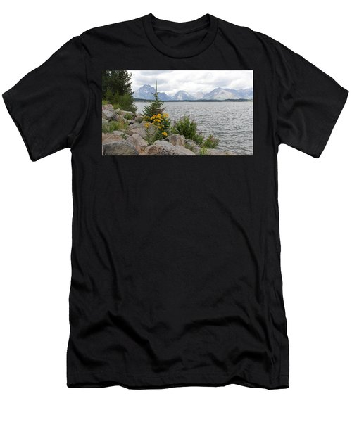 Wyoming Mountains Men's T-Shirt (Athletic Fit)