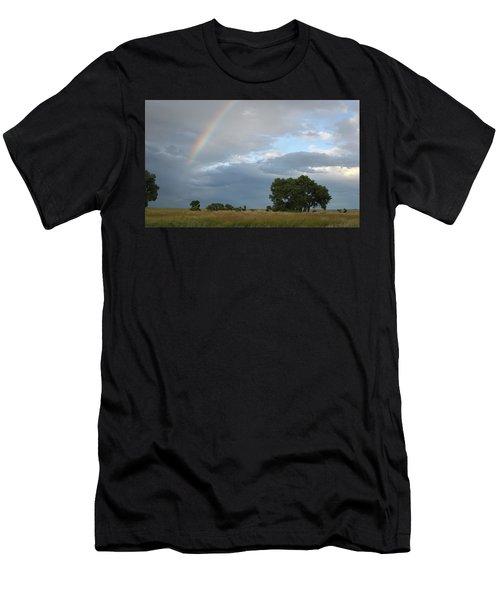 Wyoming Rainbow Men's T-Shirt (Athletic Fit)