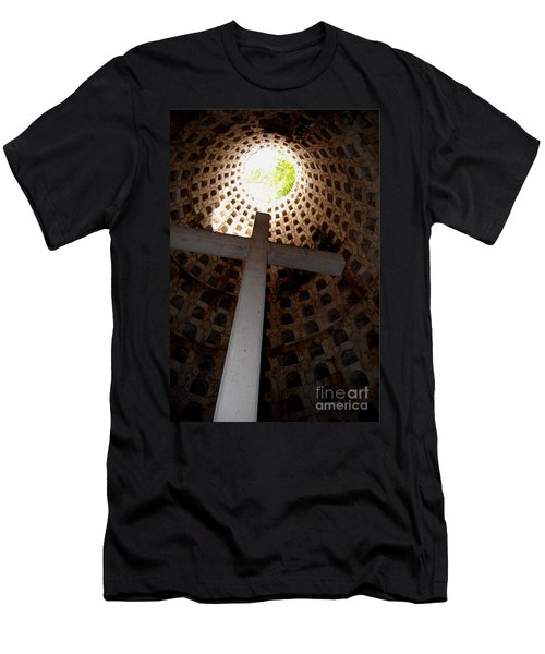 Xcaret Cemetery Catacomb Men's T-Shirt (Slim Fit) by Angela Murray