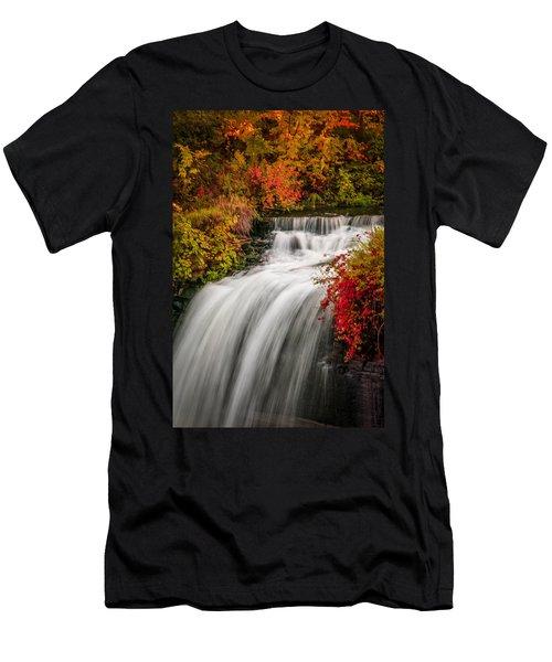 Fall At Minnehaha Falls Men's T-Shirt (Athletic Fit)