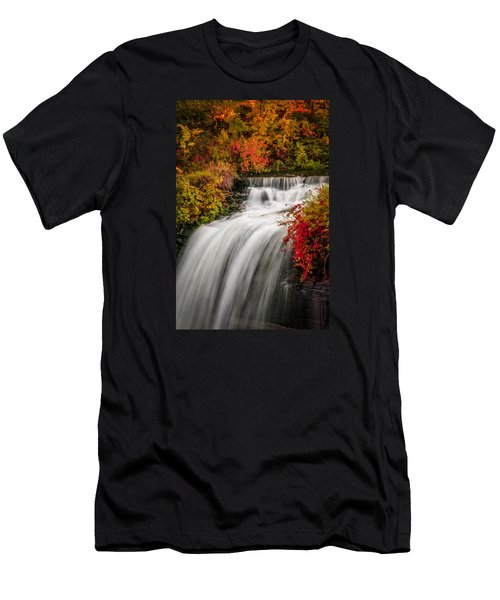 Fall At Minnehaha Falls Men's T-Shirt (Athletic Fit)
