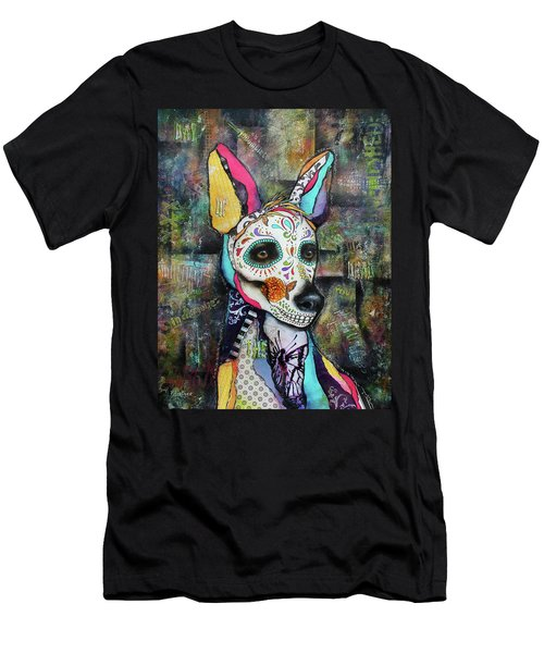 Xolo Mexican Hairless Day Of The Dead Men's T-Shirt (Athletic Fit)