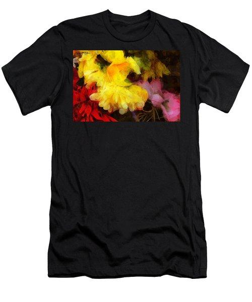 Xtreme Floral 18 Yellow Unfolding Men's T-Shirt (Athletic Fit)