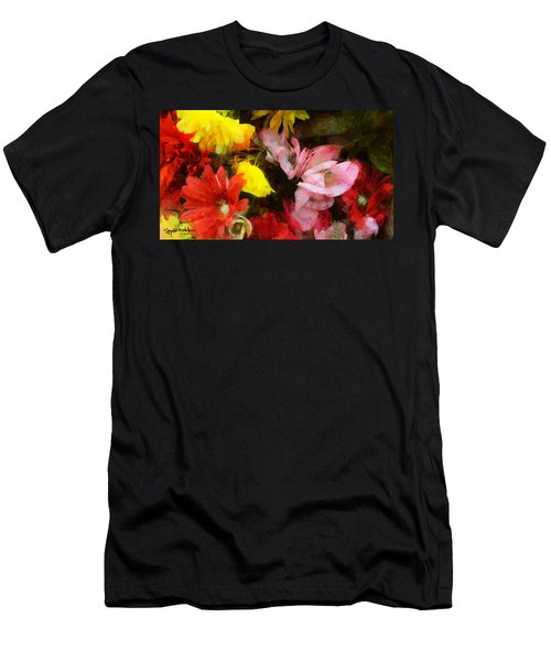 Xtreme Floral Nineteen Powerful In Pink Men's T-Shirt (Athletic Fit)