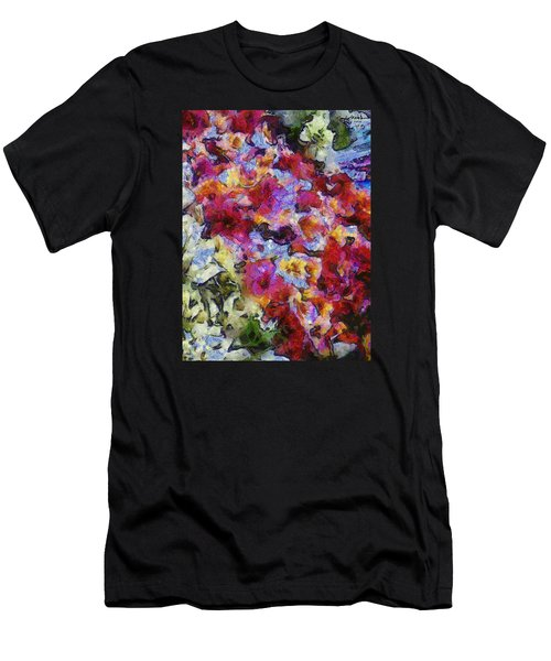 Men's T-Shirt (Slim Fit) featuring the photograph Xtreme Floral Five Cascade by Spyder Webb
