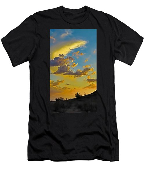 Y Cactus Sunset 10 Men's T-Shirt (Athletic Fit)
