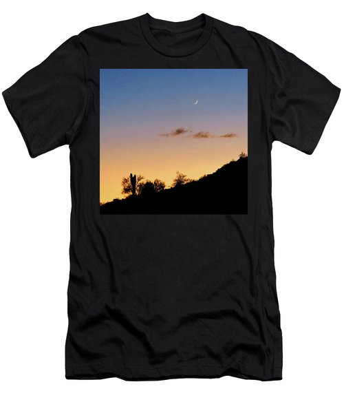 Y Cactus Sunset Moonrise Men's T-Shirt (Athletic Fit)