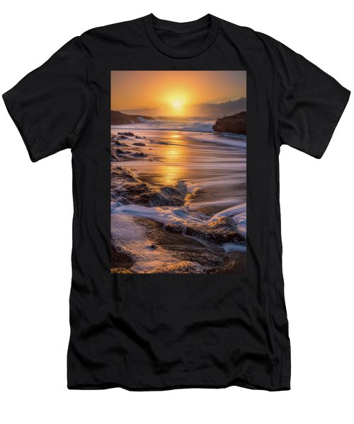 Men's T-Shirt (Athletic Fit) featuring the photograph Yachats' Sun by Darren White