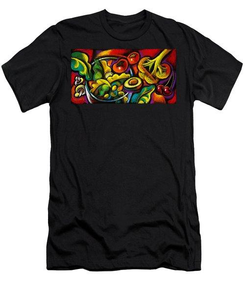 Yammy Salad Men's T-Shirt (Slim Fit) by Leon Zernitsky