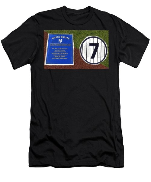Yankee Legends Number 7 Men's T-Shirt (Slim Fit) by David Lee Thompson