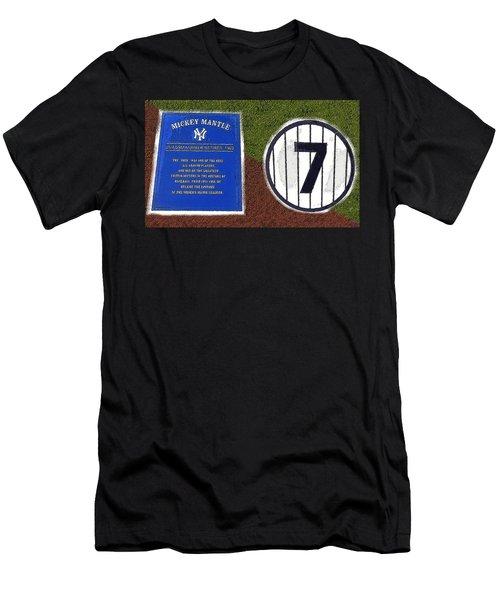 Yankee Legends Number 7 Men's T-Shirt (Slim Fit) by David Lee Thompson
