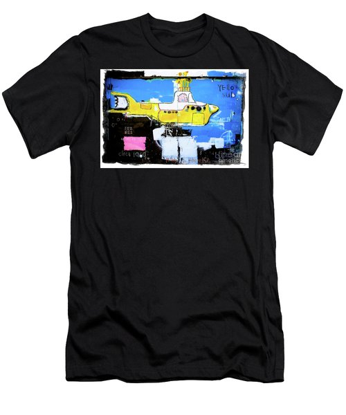 Men's T-Shirt (Slim Fit) featuring the photograph Yello Sub Graffiti by Colleen Kammerer