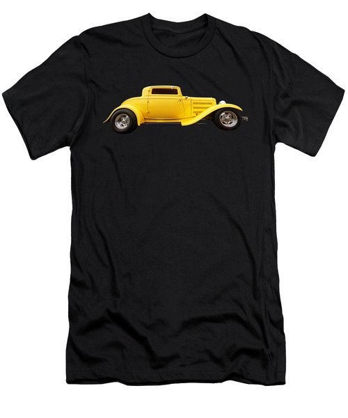 Yellow 32 Ford Deuce Coupe Men's T-Shirt (Athletic Fit)