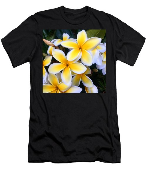 Yellow And White Plumeria Men's T-Shirt (Athletic Fit)