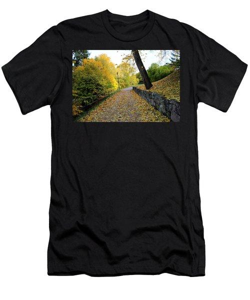 Yellow Autumn Men's T-Shirt (Athletic Fit)