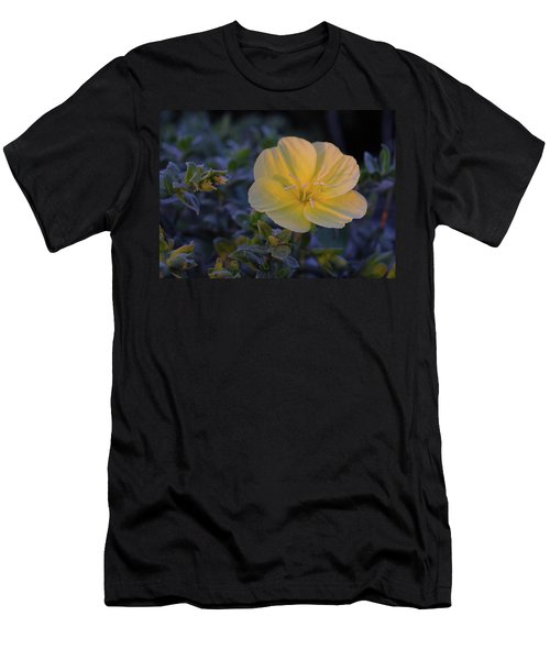 Men's T-Shirt (Slim Fit) featuring the photograph Yellow Beach Evening Primrose by Marie Hicks