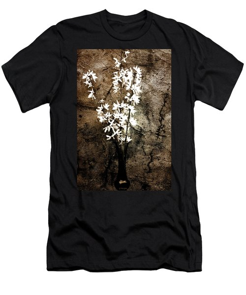 Men's T-Shirt (Slim Fit) featuring the photograph Yellow Bells by Gray  Artus