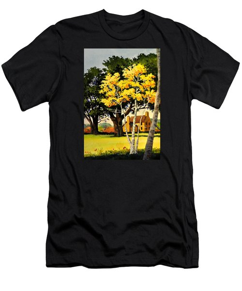 Yellow Birches Men's T-Shirt (Athletic Fit)